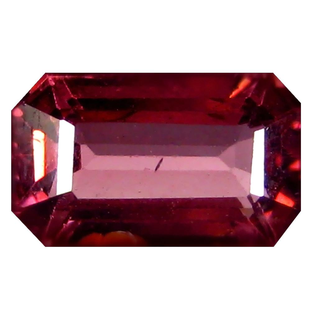 1.36 ct AAA+ Sparkling Octagon Shape (8 x 5 mm) Pinkish Red Rhodolite Garnet Natural Gemstone