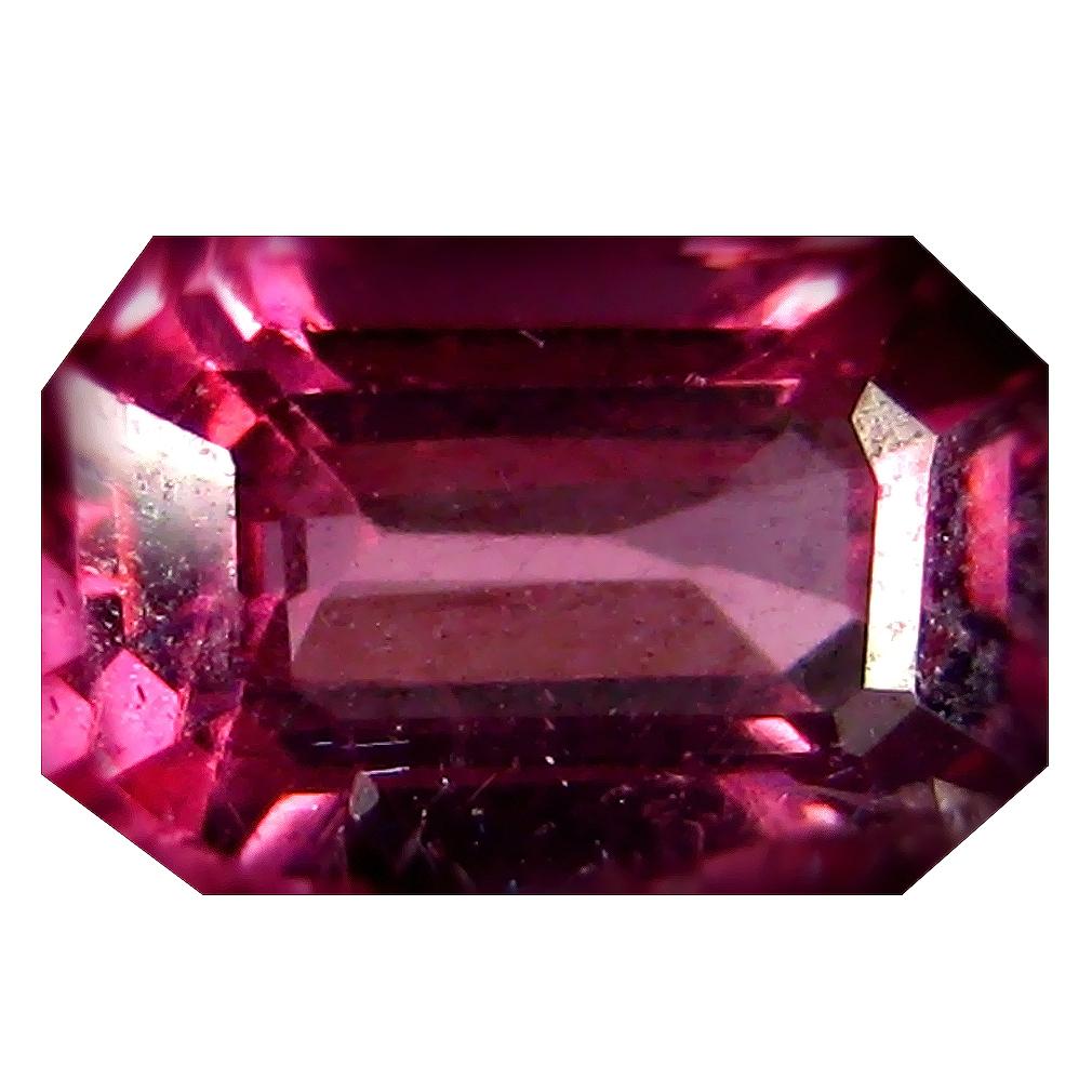 1.04 ct AAA+ Romantic Octagon Shape (7 x 4 mm) Pinkish Red Rhodolite Garnet Natural Gemstone