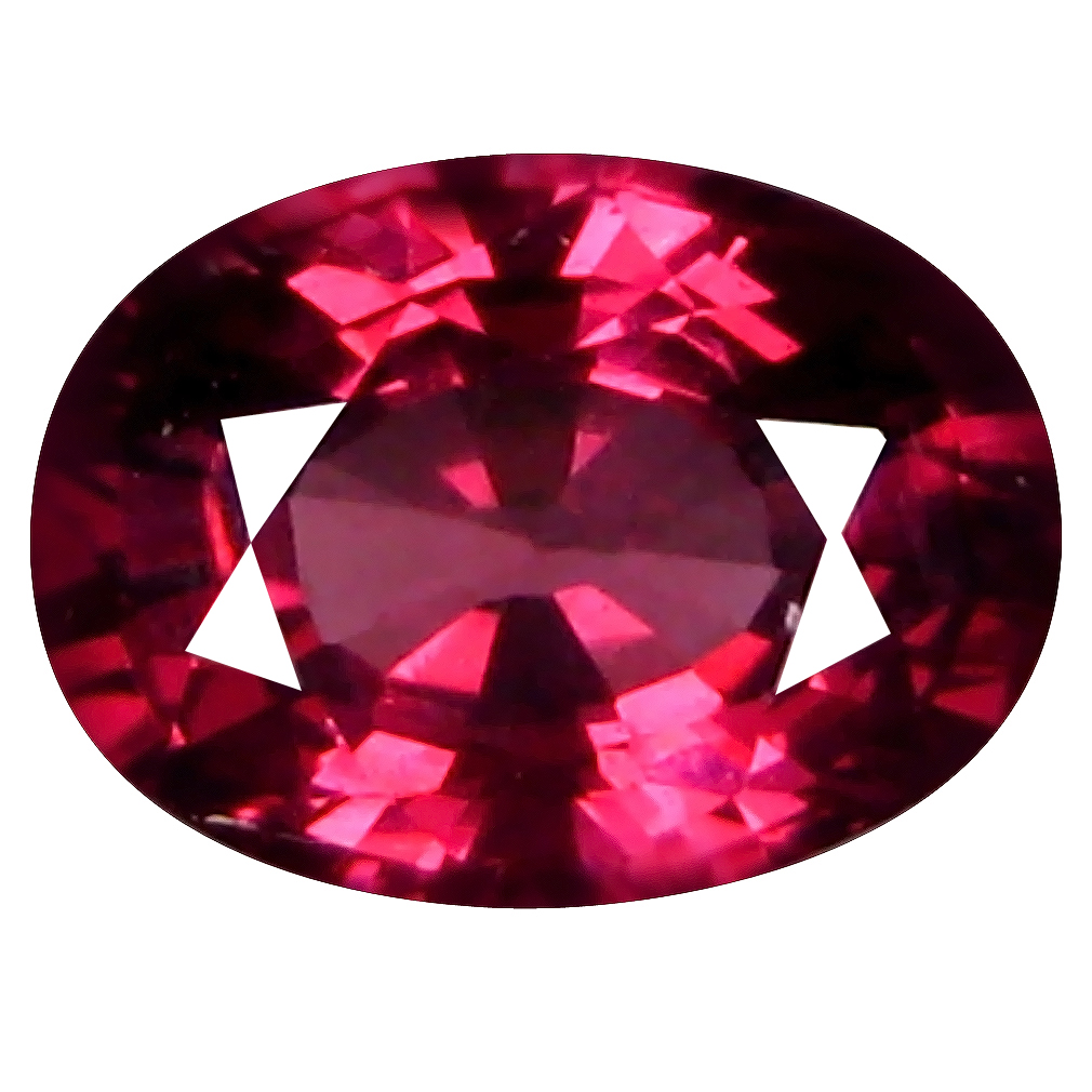 1.24 ct AAA+ Awe-inspiring Oval Shape (7 x 5 mm) Pinkish Red Rhodolite Garnet Natural Gemstone