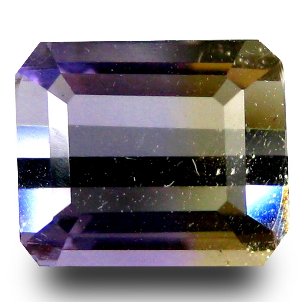 1.72 ct AAA Phenomenal Octagon Shape (8 x 7 mm) Purple and Yellow Ametrine Natural Gemstone