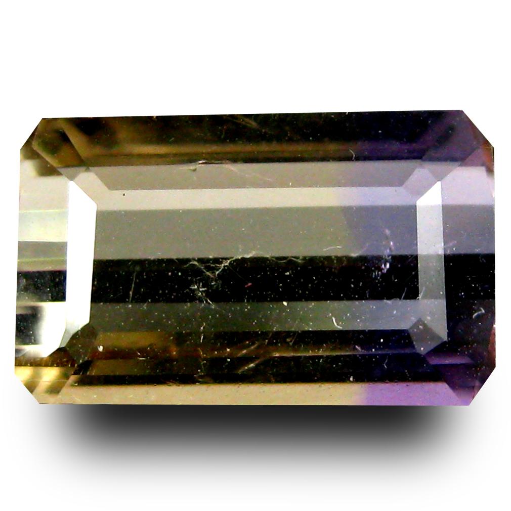 2.62 ct AAA Good-looking Octagon Shape (11 x 7 mm) Purple and Yellow Ametrine Natural Gemstone