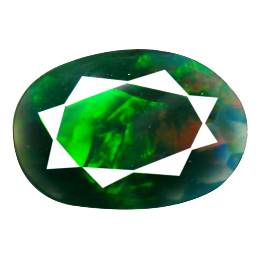 0.73 ct AAA+ Best Oval Shape (9 x 6 mm) Play of Colors Black Opal Natural Gemstone