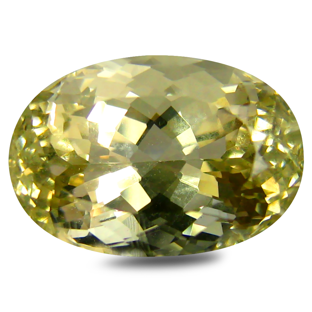5.35 ct AAA Incomparable Oval Shape (13 x 9 mm) Golden Yellow Orthoclase Natural Gemstone