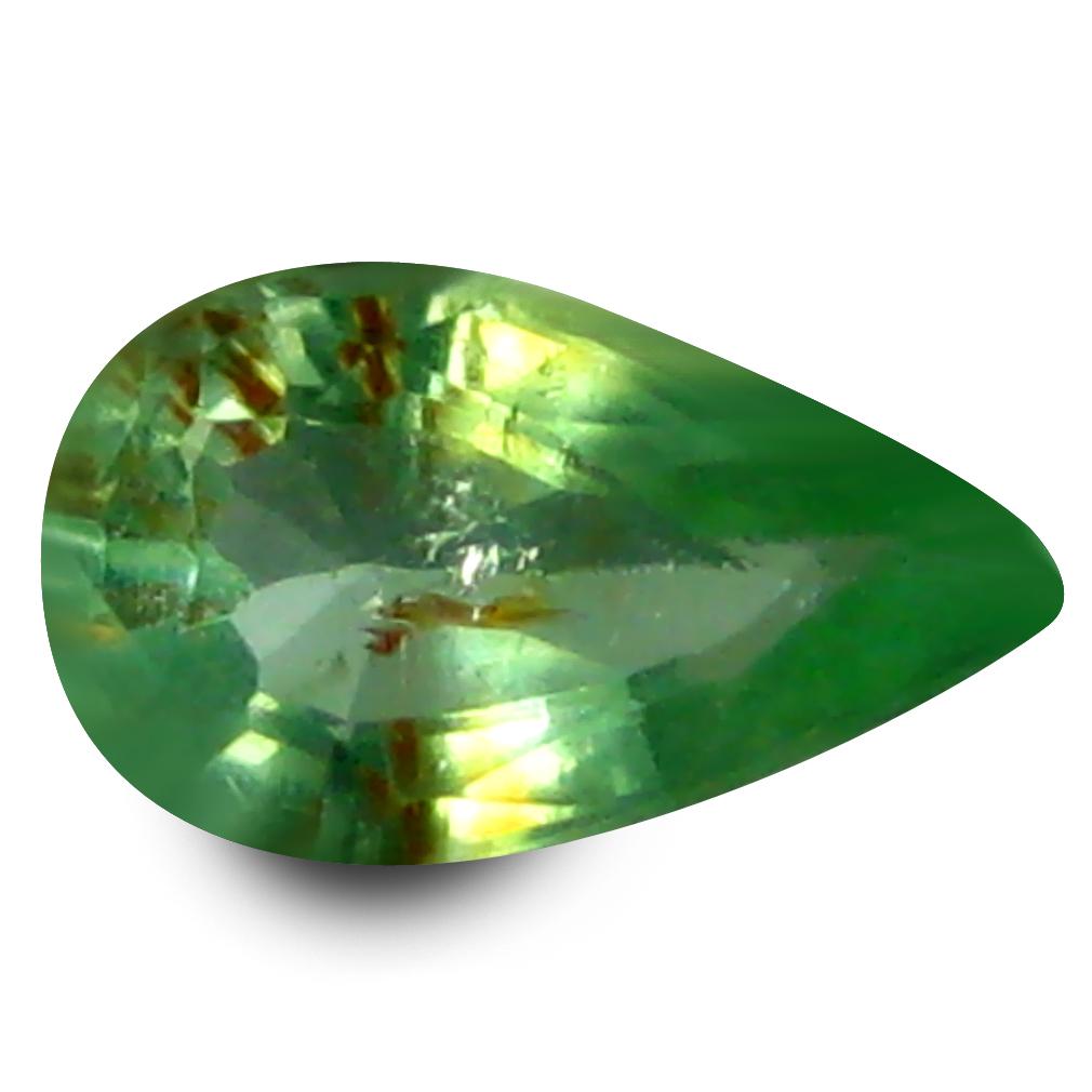 0.23 ct Very good Pear Cut (6 x 3 mm) Copper Bearing Paraiba Tourmaline Natural Loose Gemstone