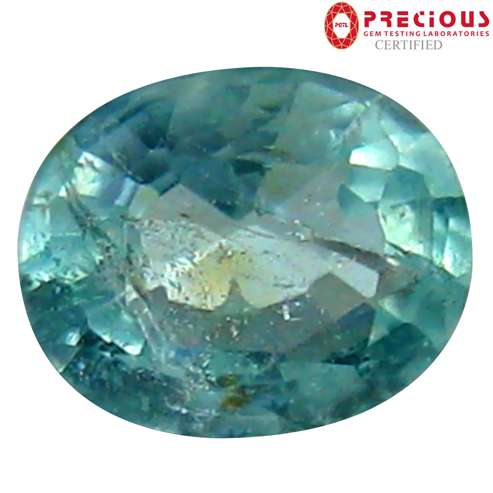 0.43 ct PGTL Certified Oval Cut (5 x 4 mm) Copper Bearing Paraiba Tourmaline Loose Gemstone