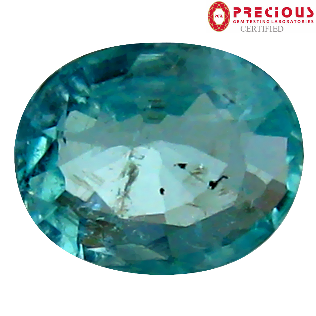 0.49 ct PGTL Certified Oval Cut (6 x 5 mm) Copper Bearing Paraiba Tourmaline Loose Gemstone
