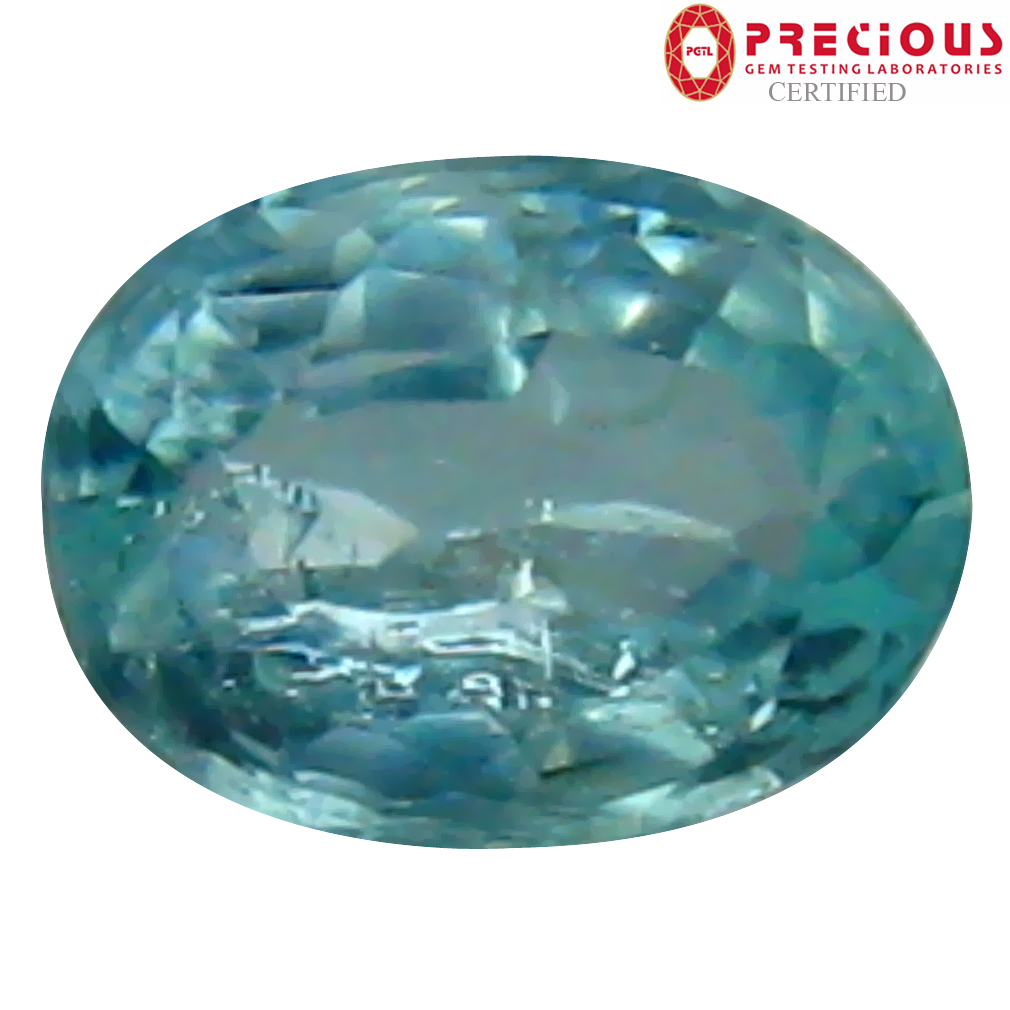 0.35 ct PGTL Certified Oval Cut (5 x 4 mm) Copper Bearing Paraiba Tourmaline Loose Gemstone