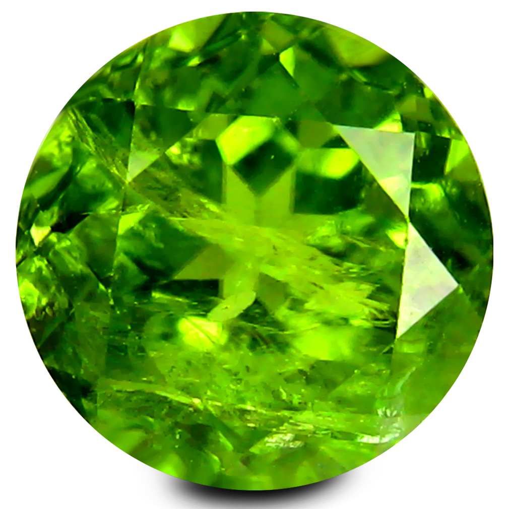 4.31 ct Extraordinary 9 mm Round Shape Un-Heated Green Peridot Natural Gemstone