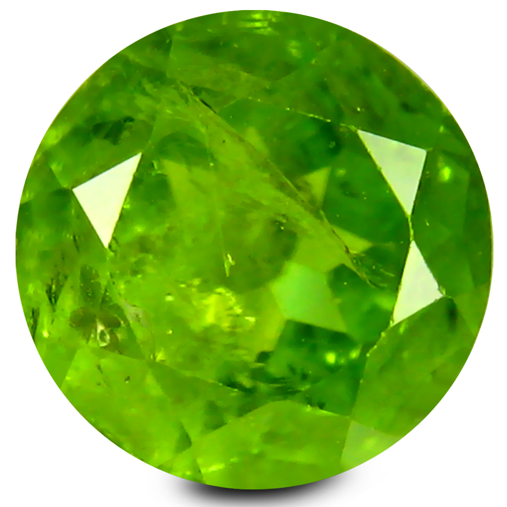 4.93 ct Eye-popping 10 mm Round Shape Un-Heated Green Peridot Natural Gemstone