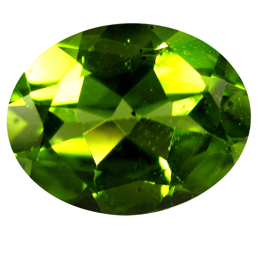 1.87 ct Five-star Oval Cut (9 x 7 mm) Pakistan Green Peridot Natural Gemstone