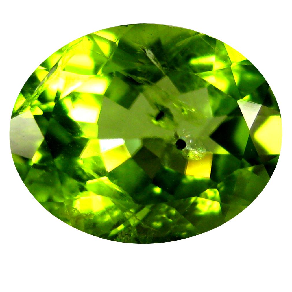 1.77 ct Incomparable Oval Cut (9 x 7 mm) Pakistan Green Peridot Natural Gemstone