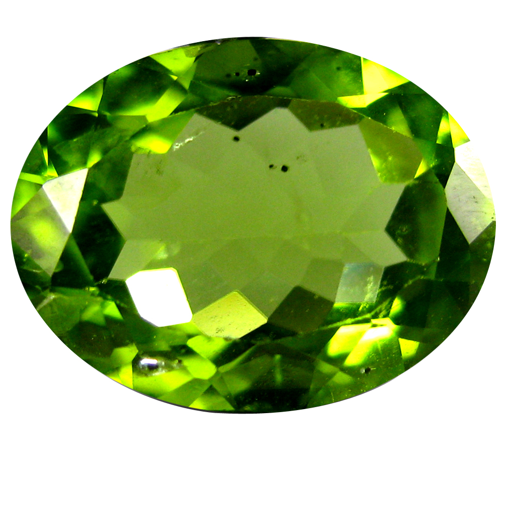 2.26 ct Excellent Oval Cut (10 x 8 mm) Pakistan Green Peridot Natural Gemstone