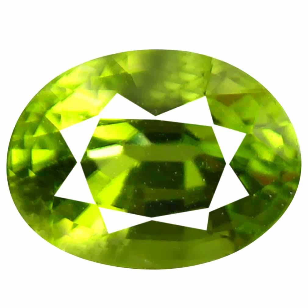 1.28 ct (1 pcs) Elegant Oval Cut (7 x 6 mm) Green Peridot Natural Gemstone