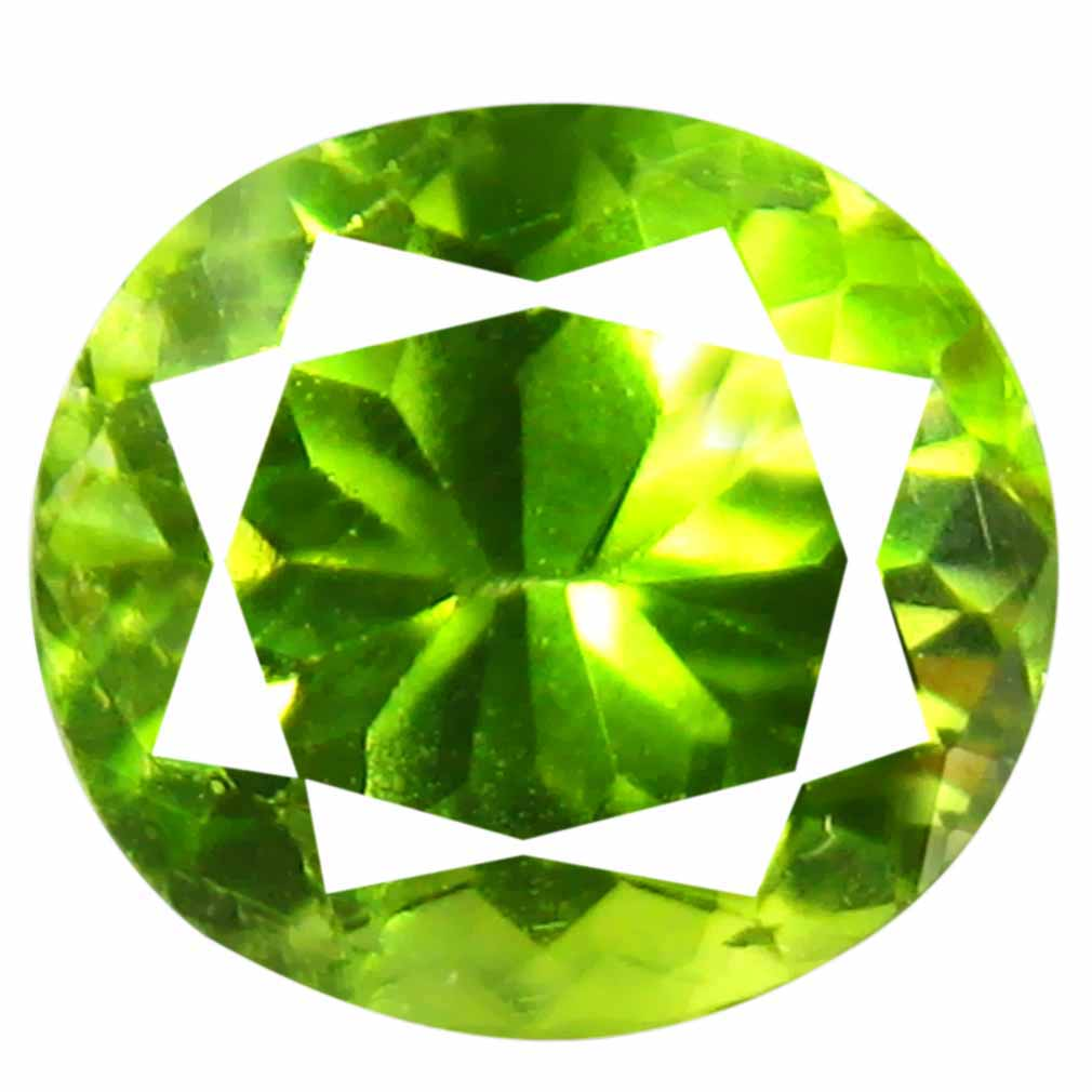1.45 ct (1 pcs) Significant Oval Cut (7 x 6 mm) Green Peridot Natural Gemstone