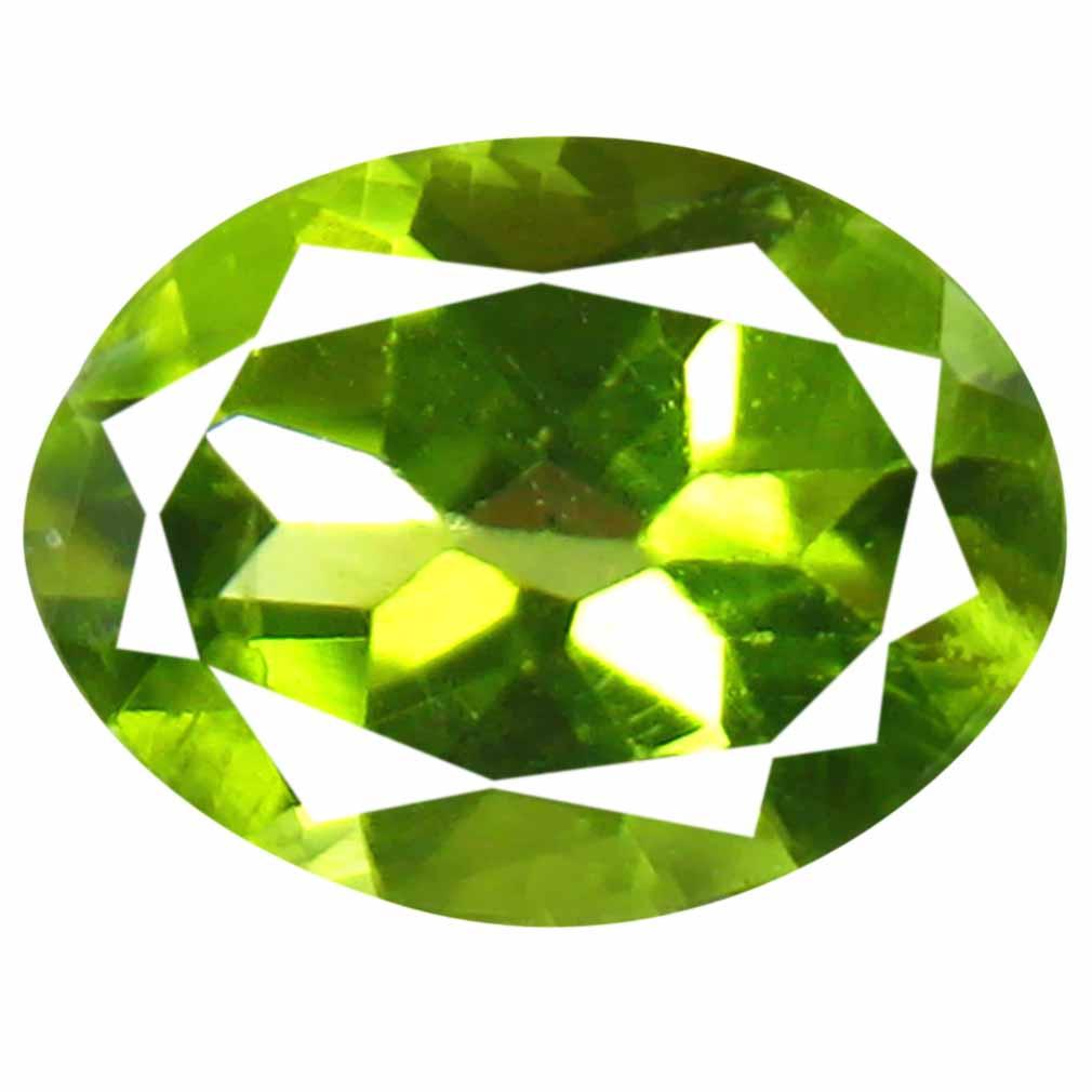 1.16 ct (1 pcs) Beautiful Oval Cut (8 x 6 mm) Green Peridot Natural Gemstone