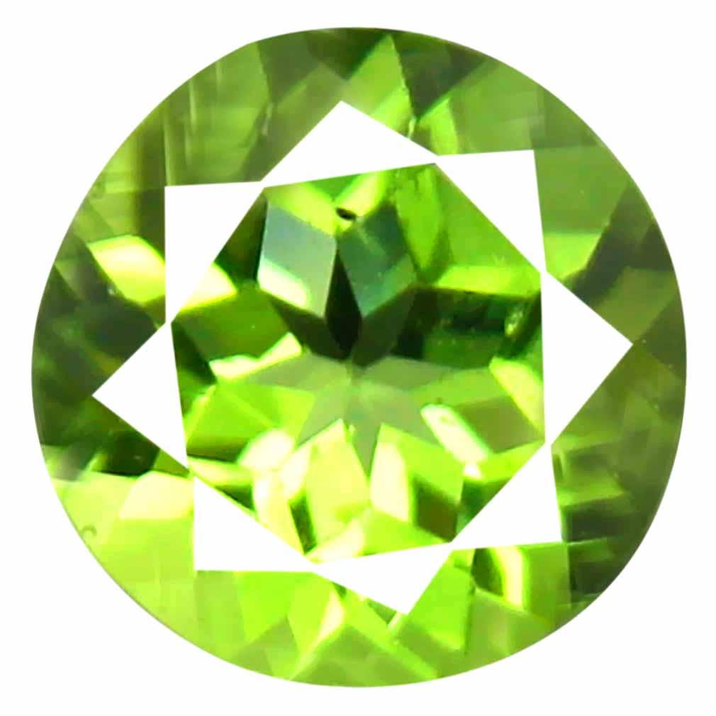 1.19 ct (1 pcs) Good-looking Round Cut (7 x 7 mm) Green Peridot Natural Gemstone