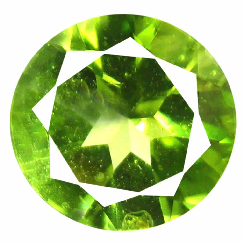 0.95 ct (1 pcs) Dazzling Round Cut (7 x 7 mm) Green Peridot Natural Gemstone