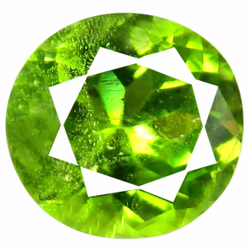 1.77 ct (1 pcs) Superb Oval Cut (8 x 7 mm) Green Peridot Natural Gemstone