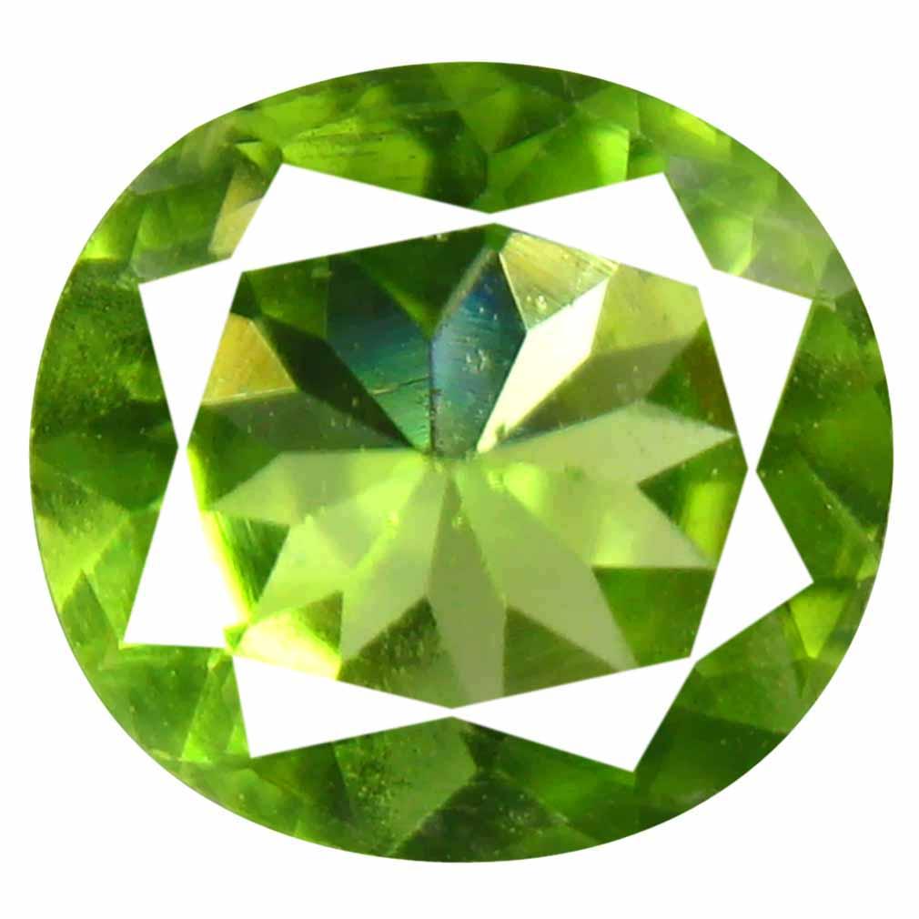 1.34 ct (1 pcs) Astonishing Oval Cut (8 x 8 mm) Green Peridot Natural Gemstone