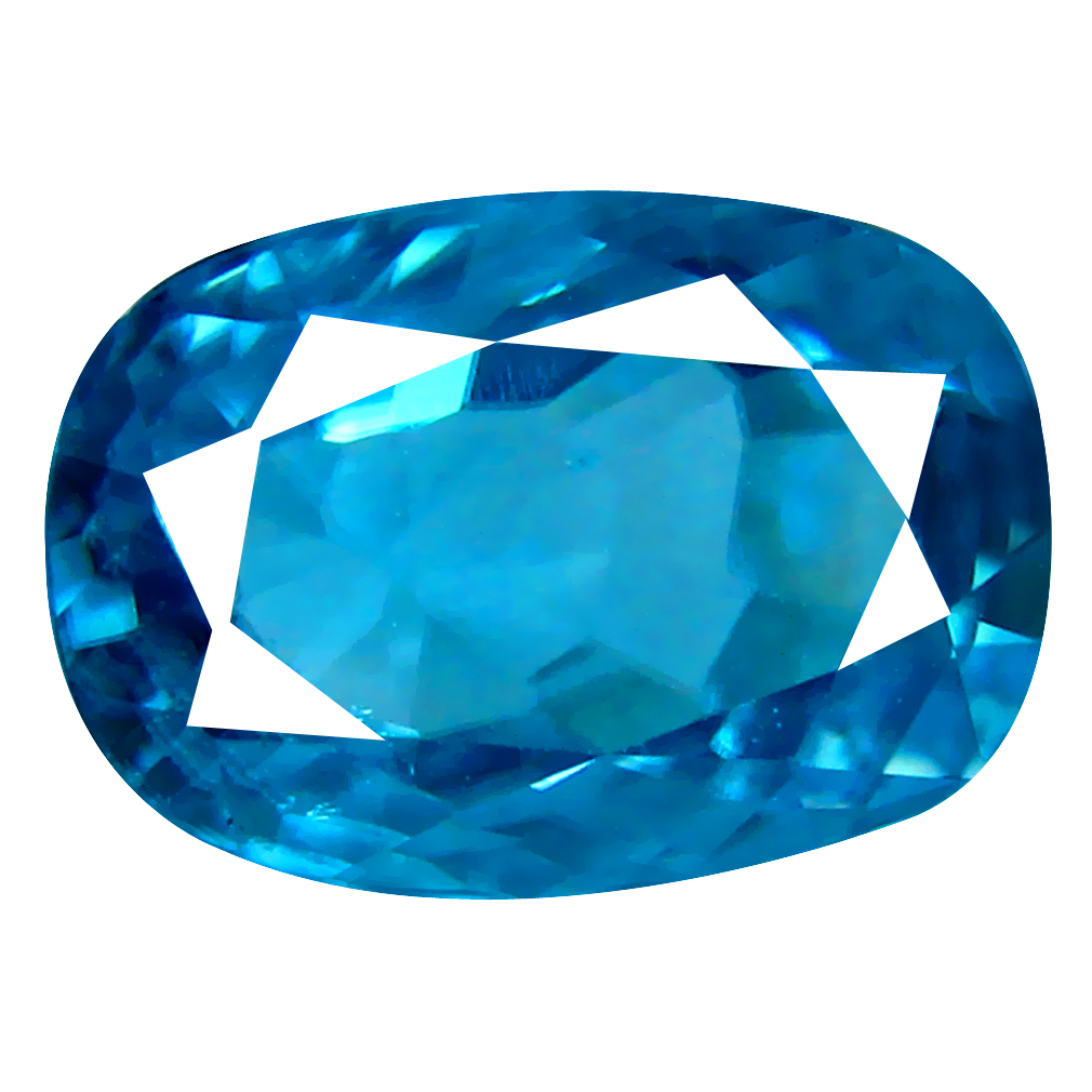2.92 ct Superior Oval Cut (9 x 6 mm) Cambodian Blue Zircon Natural Loose Gemstone
