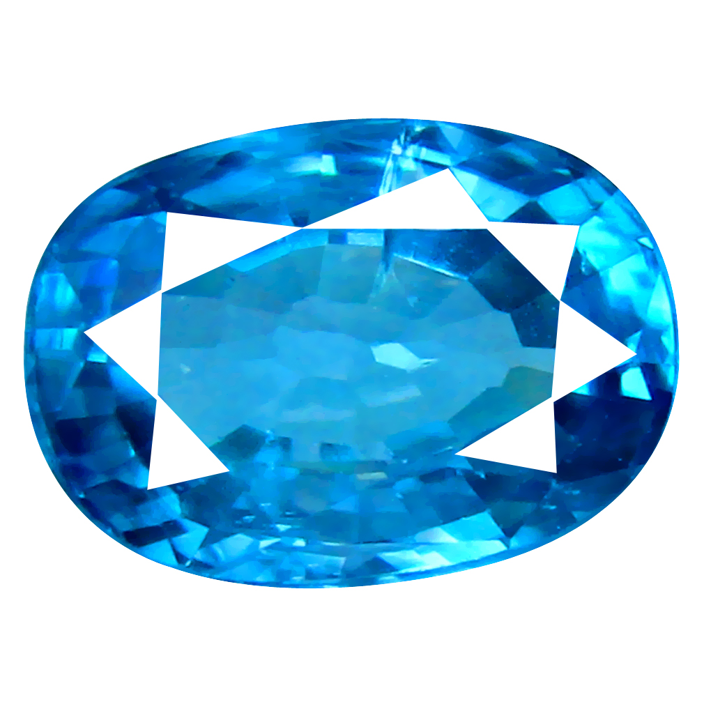 2.93 ct Unbelievable Oval Cut (9 x 6 mm) Cambodian Blue Zircon Natural Loose Gemstone