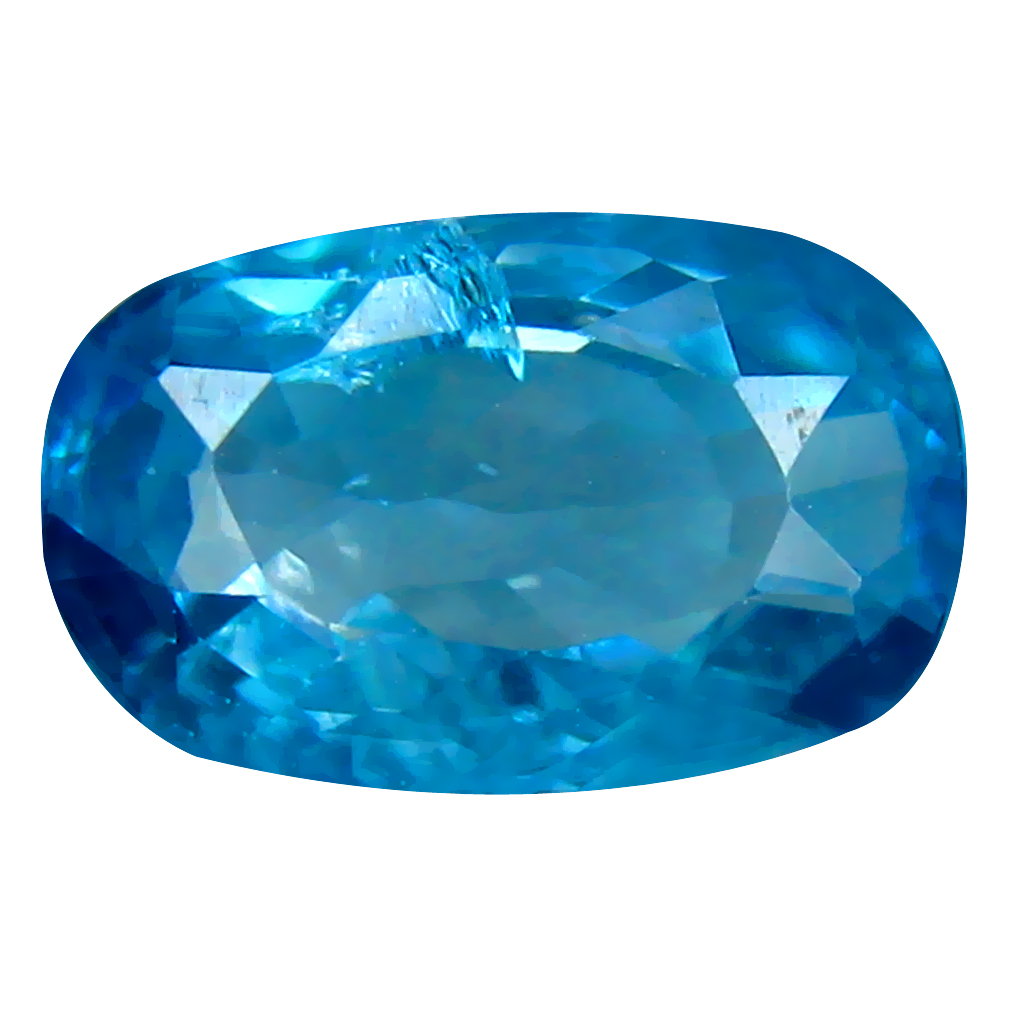 2.78 ct Five-star Oval Cut (9 x 6 mm) Cambodian Blue Zircon Natural Loose Gemstone