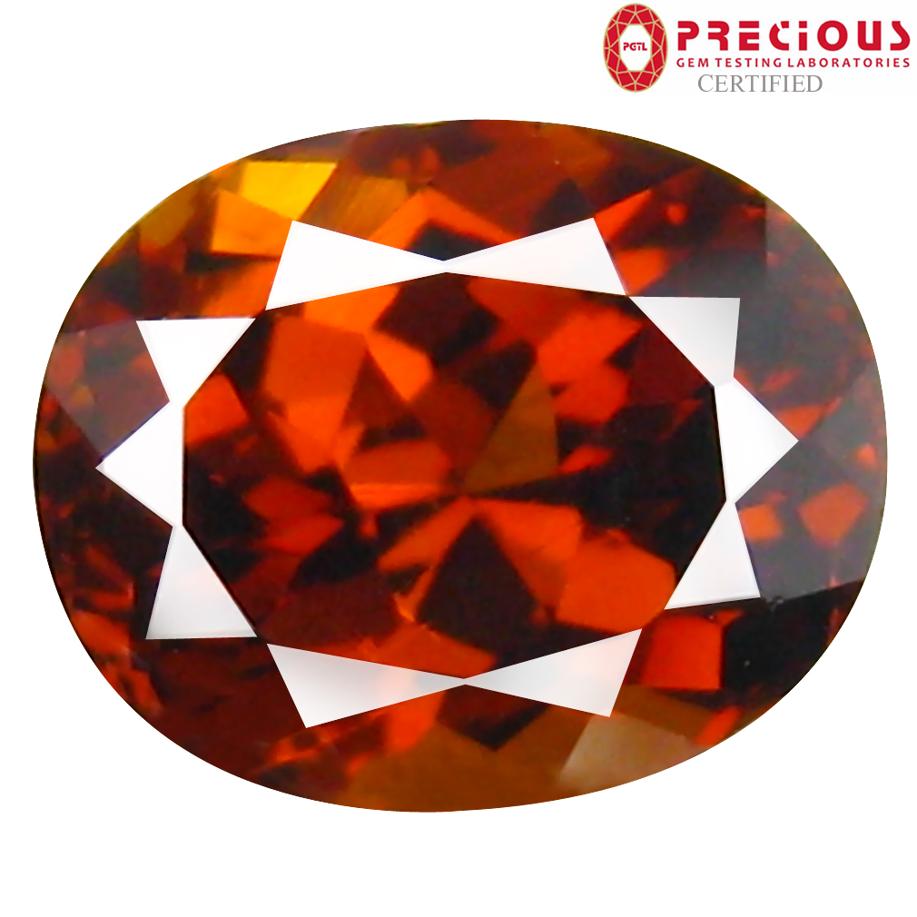 2.08 ct PGTL Certified Oval Cut (8 x 6 mm) Un-Heated Brownish Yellow Mali Garnet Gemstone