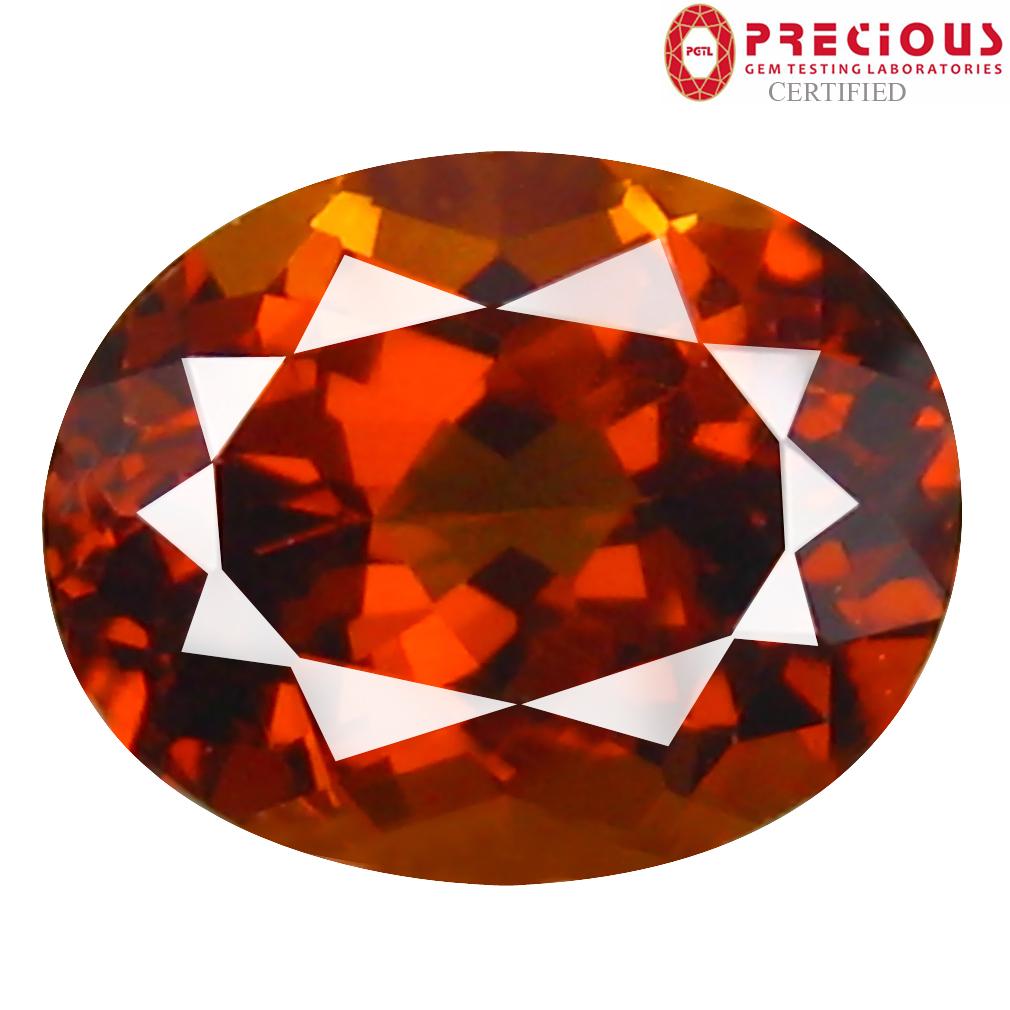 1.27 ct PGTL Certified Oval Cut (7 x 5 mm) Un-Heated Brownish Yellow Mali Garnet Gemstone