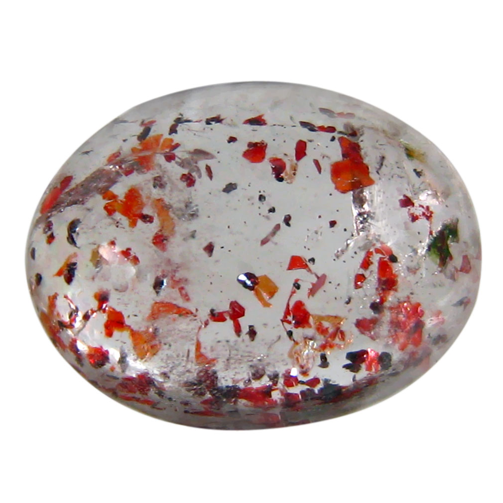 5.15 ct AAA Eye-catching Oval Cabochon Shape (13 x 10 mm) Strawberry Color Quartz Natural Gemstone