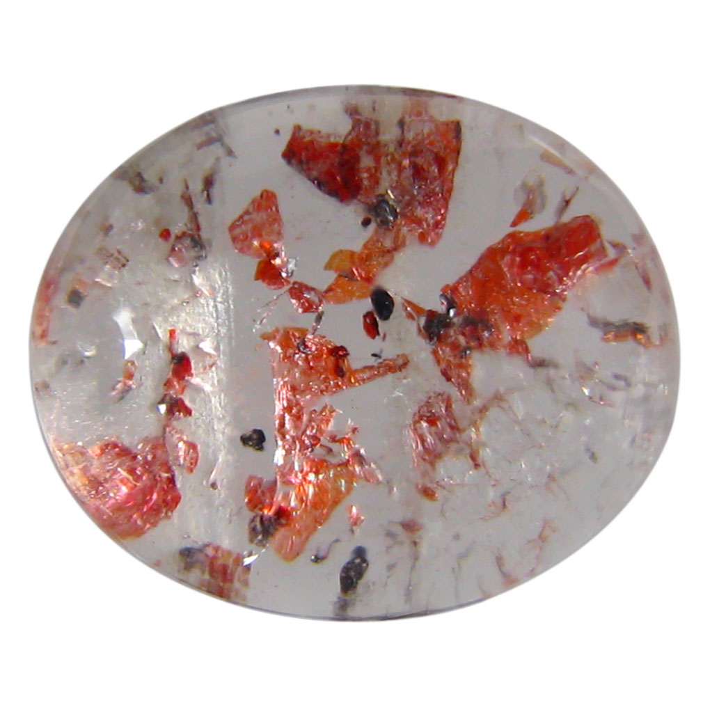 7.78 ct AAA Eye-opening Oval Cabochon Shape (14 x 11 mm) Strawberry Color Quartz Natural Gemstone