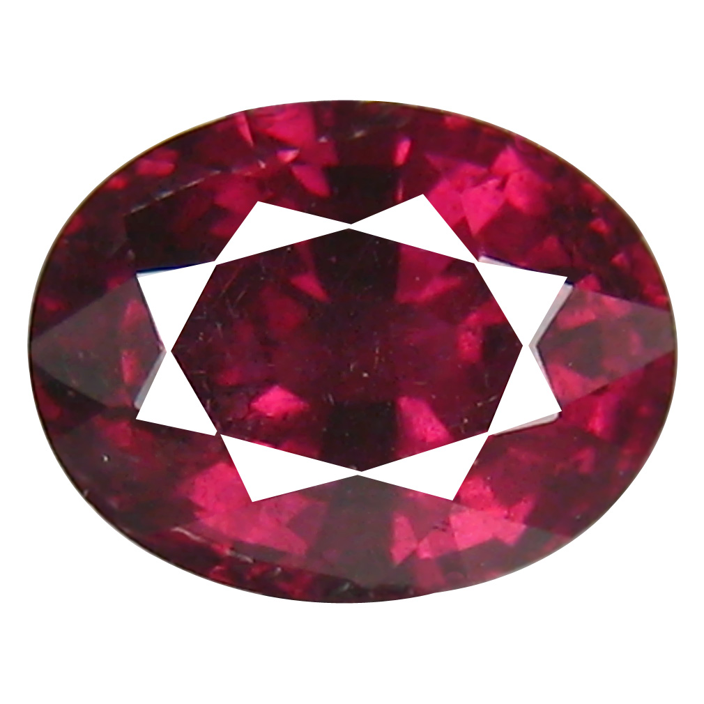 1.91 ct AAA+ Supreme Oval Shape (8 x 6 mm) Pinkish Red Rhodolite Garnet Natural Gemstone