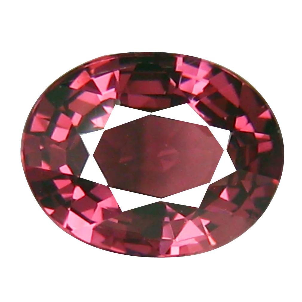 0.94 ct AAA+ World class Oval Shape (7 x 5 mm) Pinkish Red Rhodolite Garnet Natural Gemstone