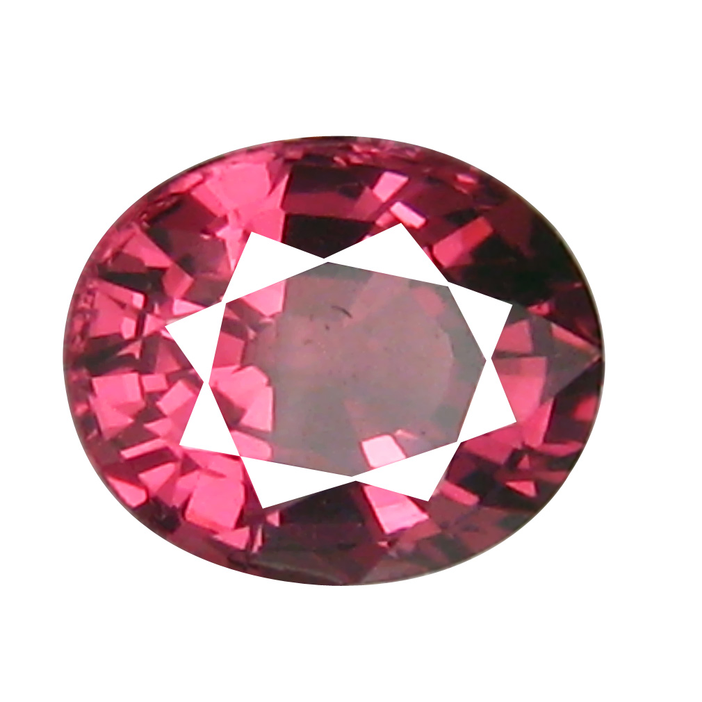 1.10 ct AAA+ Phenomenal Oval Shape (7 x 5 mm) Pinkish Red Rhodolite Garnet Natural Gemstone
