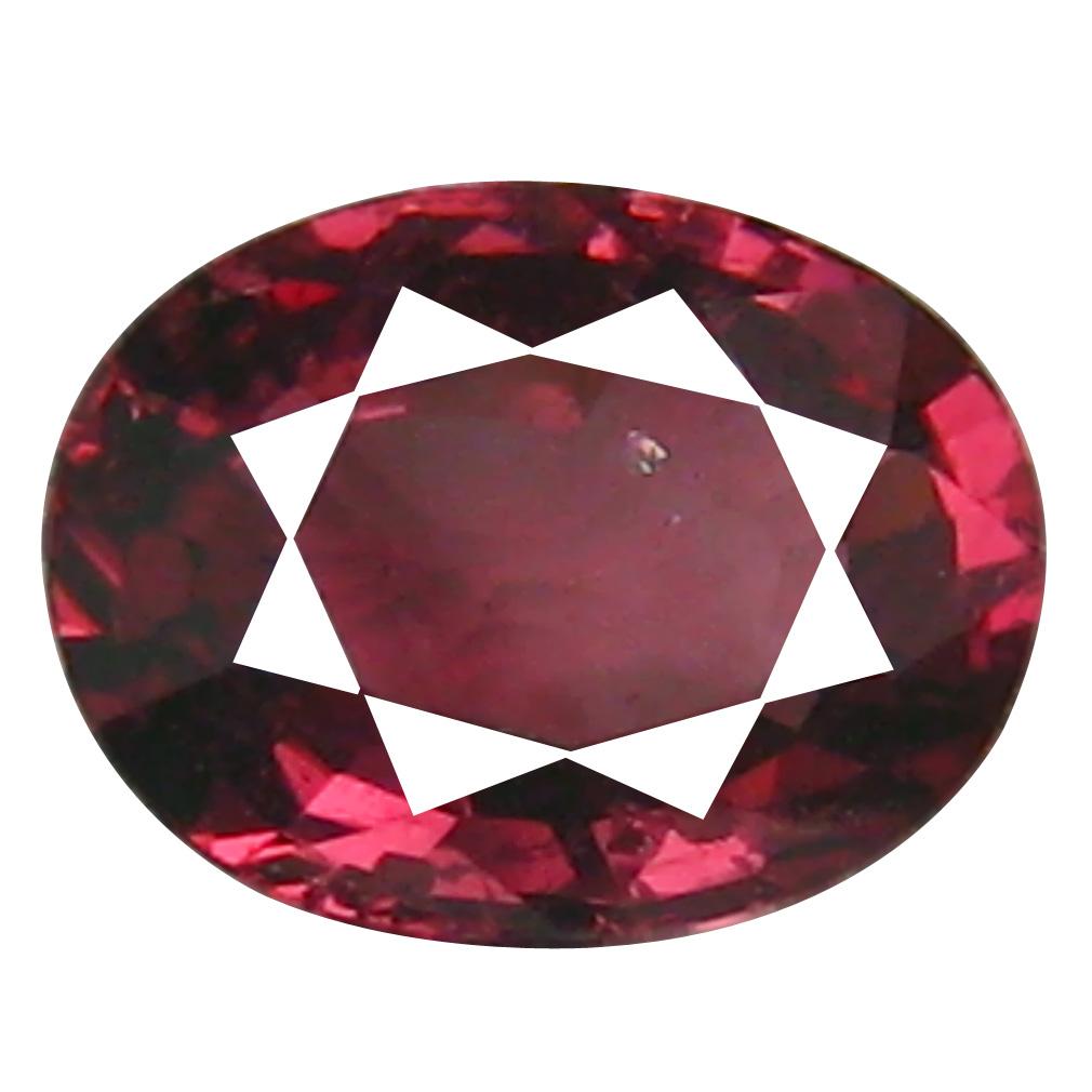 1.55 ct AAA+ Spectacular Oval Shape (8 x 6 mm) Pinkish Red Rhodolite Garnet Natural Gemstone