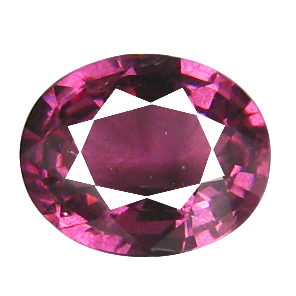 1.31 ct AAA+ Outstanding Oval Shape (7 x 6 mm) Pinkish Red Rhodolite Garnet Natural Gemstone