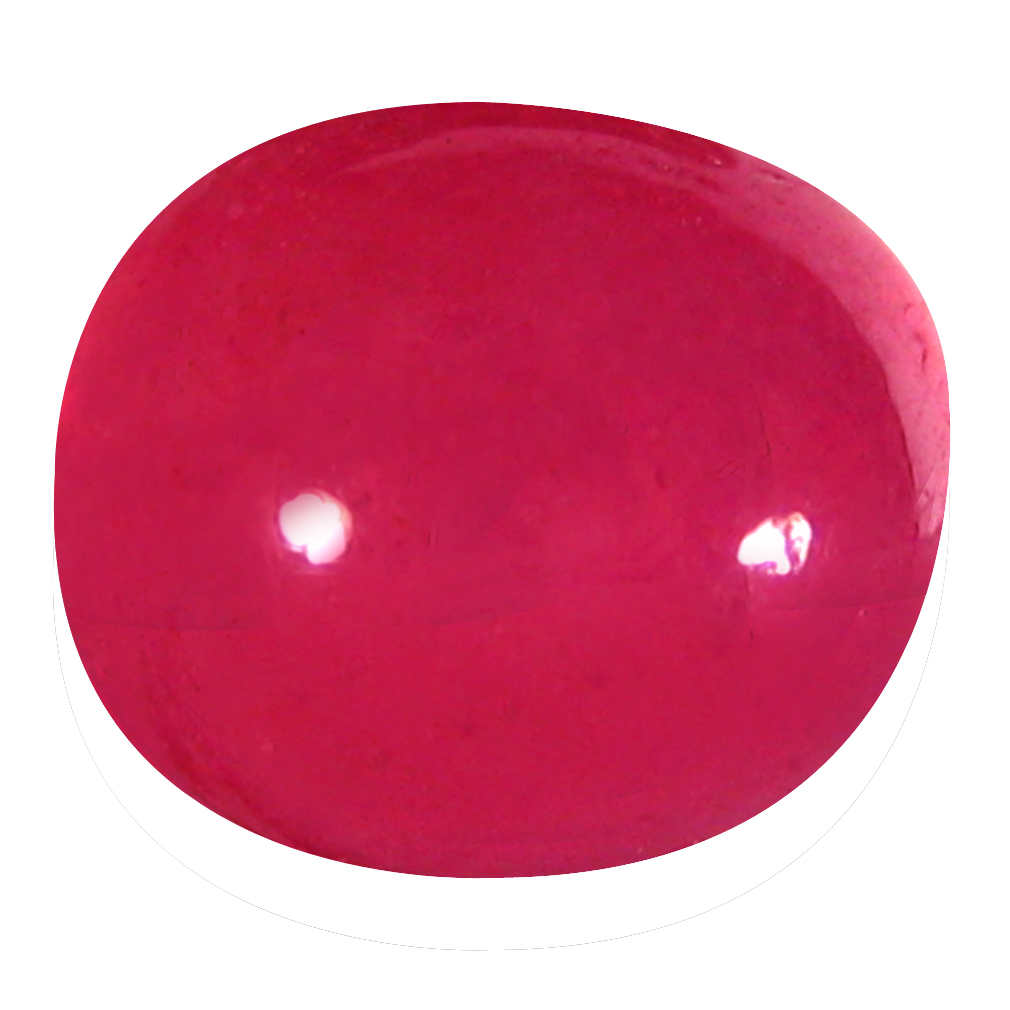 6.69 ct  Astonishing Oval Cabochon Shape (10 x 9 mm) Red Ruby Natural Gemstone