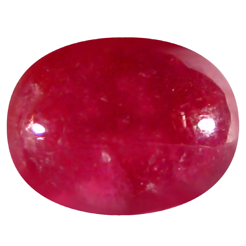 9.10 ct AAA Super-Excellent Oval Cabochon Shape (14 x 10 mm) Red Ruby Natural Gemstone