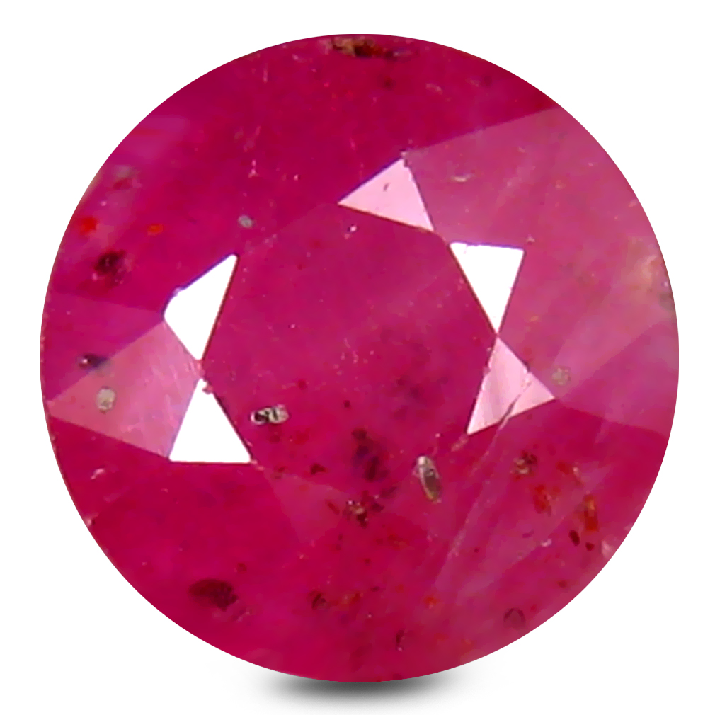 2.27 ct AA+ Topnotch Round Shape (7 x 7 mm) Red Ruby Natural Gemstone