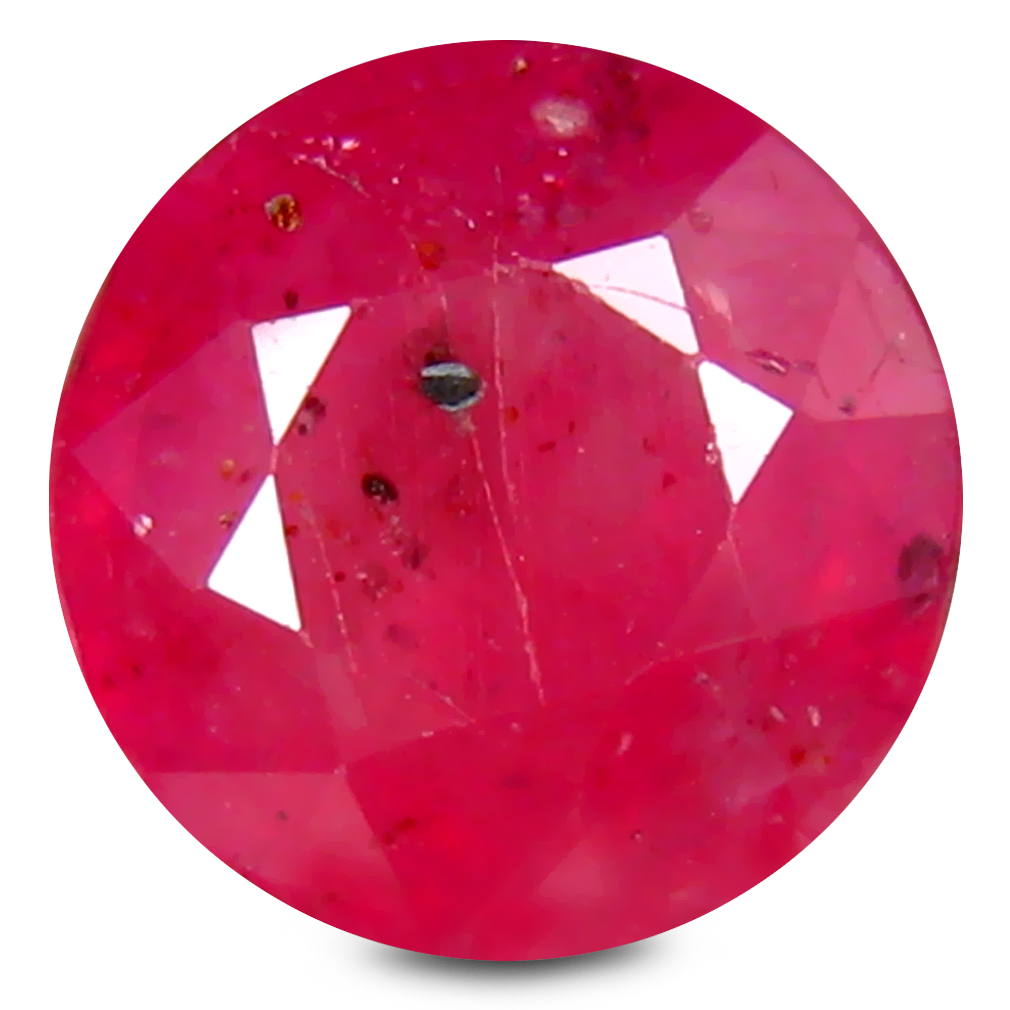 2.48 ct AA+ Very good Round Shape (8 x 8 mm) Red Ruby Natural Gemstone