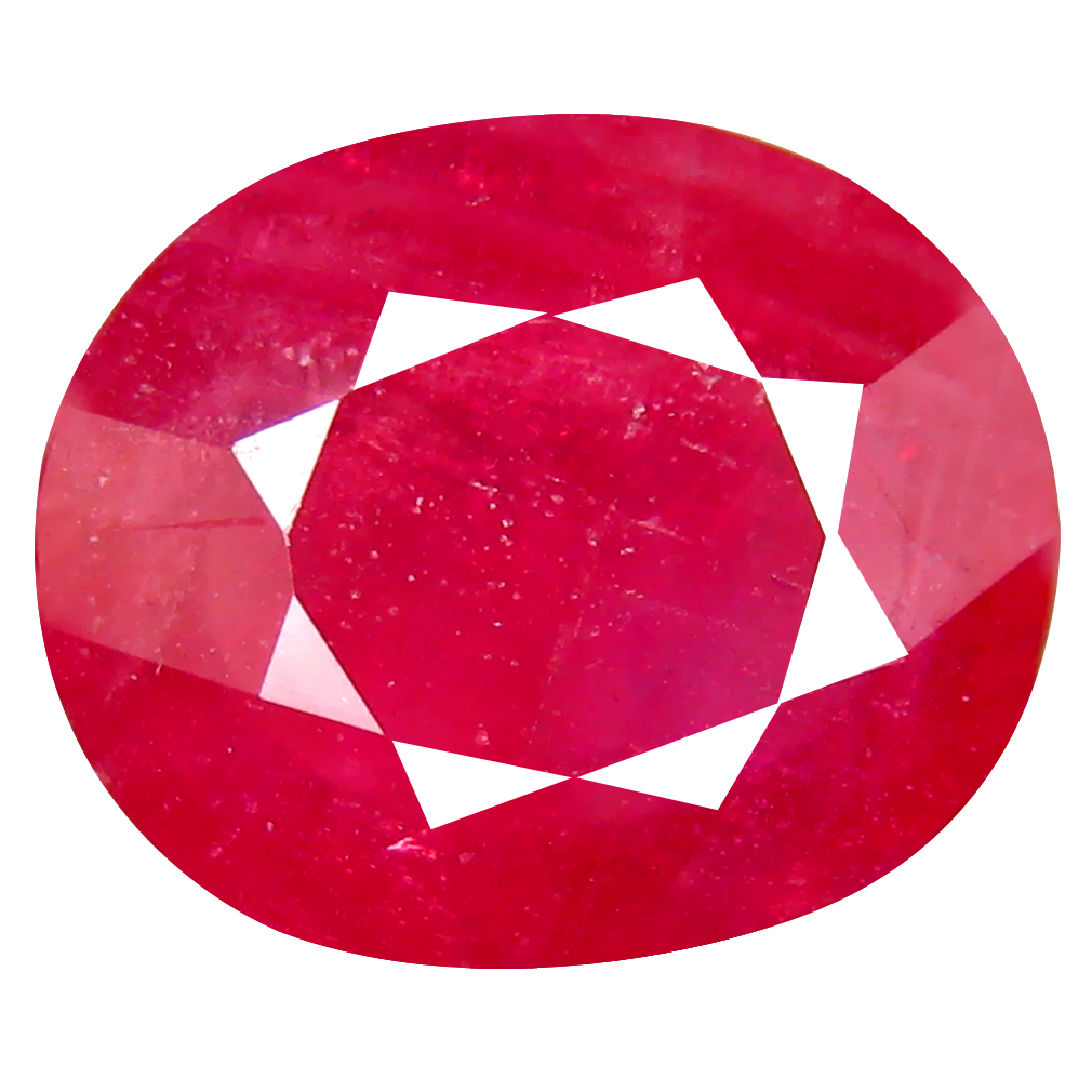 8.35 ct AA+ Phenomenal Oval Shape (13 x 11 mm) Red Ruby Natural Gemstone