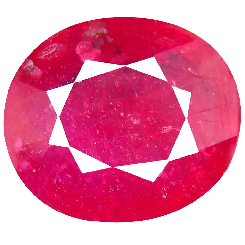 5.79 ct AA+ Attractive Oval Shape (12 x 11 mm) Red Ruby Natural Gemstone