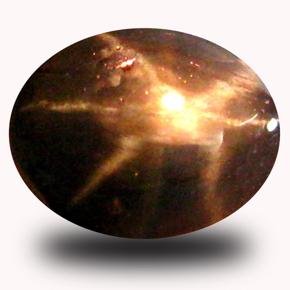 0.76 ct  Phenomenal Pear Cabochon Cut (6 x 5 mm) Blue Star Sapphire Natural Gemstone