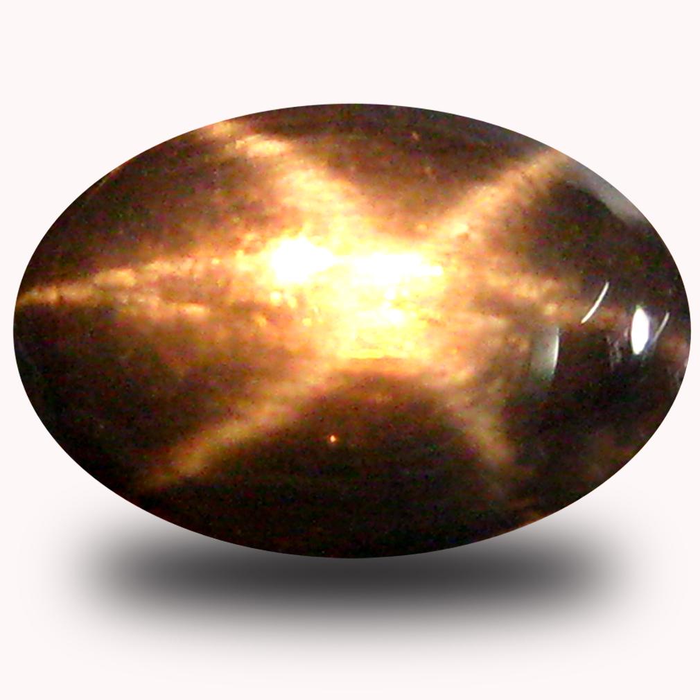 0.98 ct  Terrific Oval Cabochon Cut (7 x 5 mm) Blue Star Sapphire Natural Gemstone