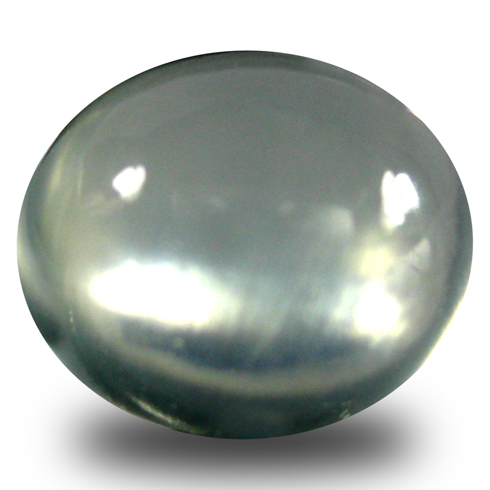 3.04 ct  Outstanding Oval Cabochon Shape (9 x 8 mm) Green Prehnite Natural Gemstone