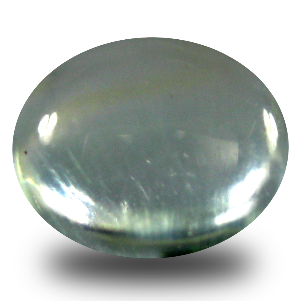 2.37 ct  Five-star Oval Cabochon Shape (9 x 7 mm) Green Prehnite Natural Gemstone