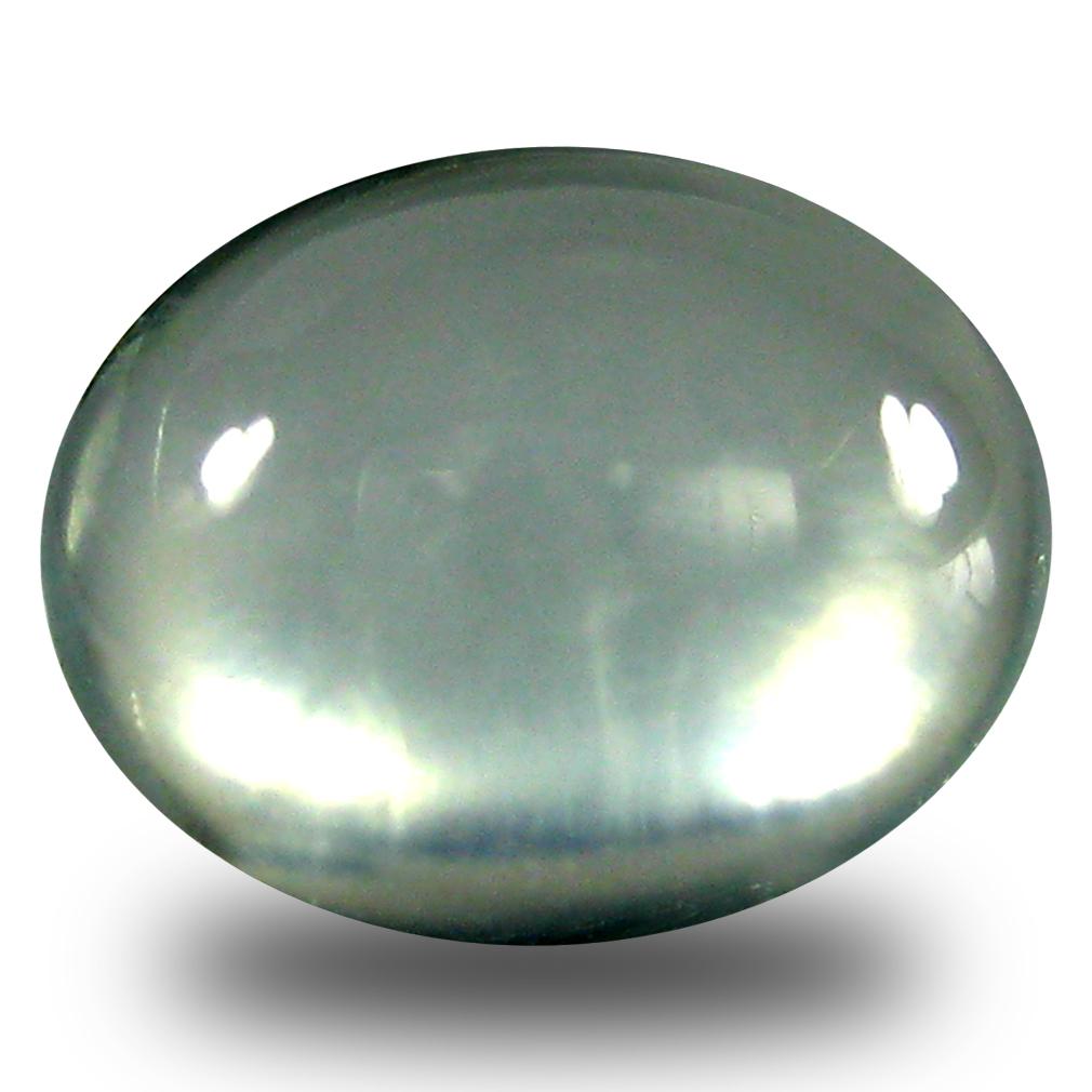 2.00 ct  Premium Oval Cabochon Shape (8 x 6 mm) Green Prehnite Natural Gemstone