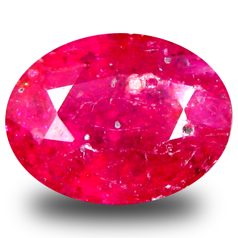 1.64 ct  Superior Oval Shape (8 x 6 mm) Red Sapphire Natural Gemstone