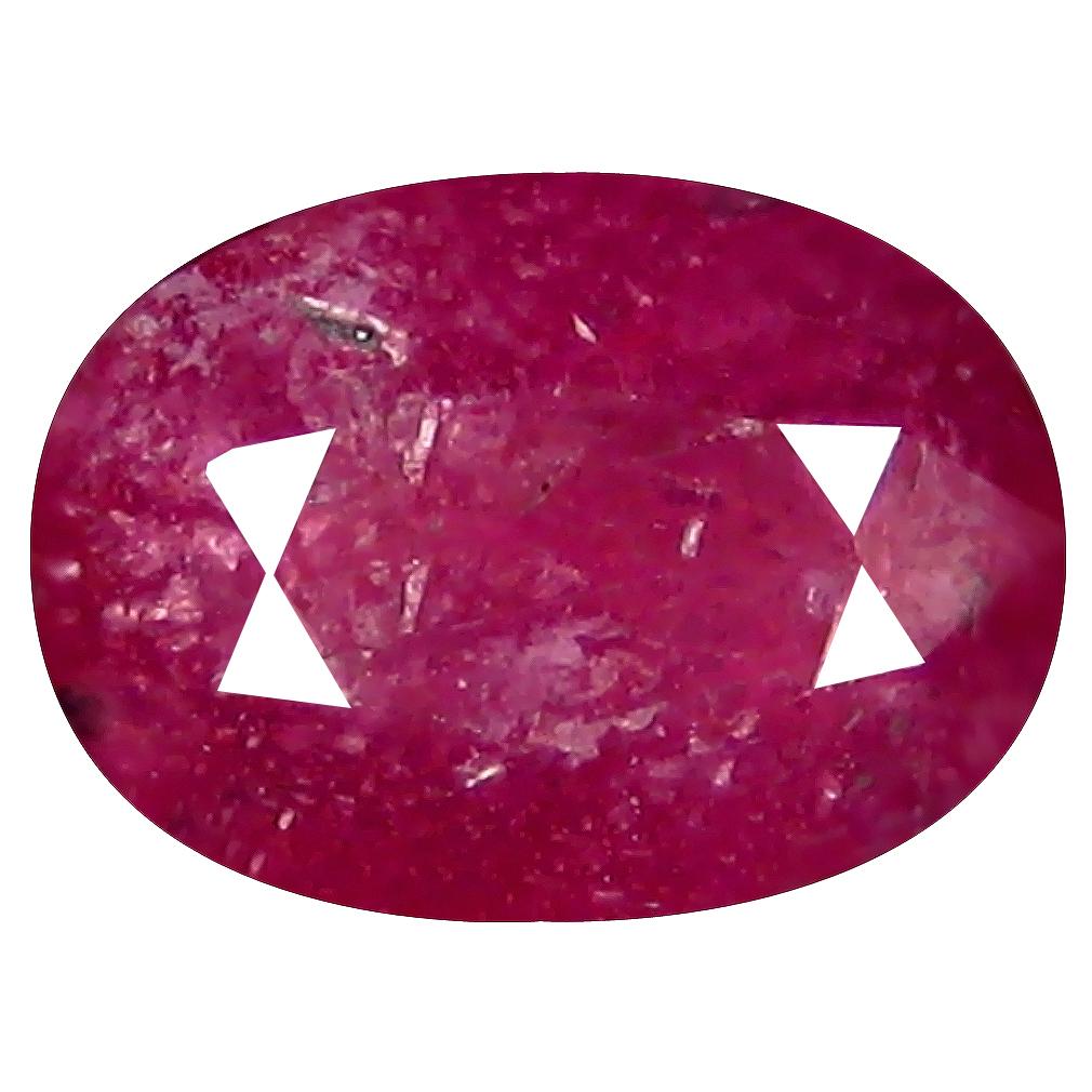 3.17 ct Awe-inspiring Oval Shape (10 x 7 mm) Pinkish Red Sapphire Genuine Stone