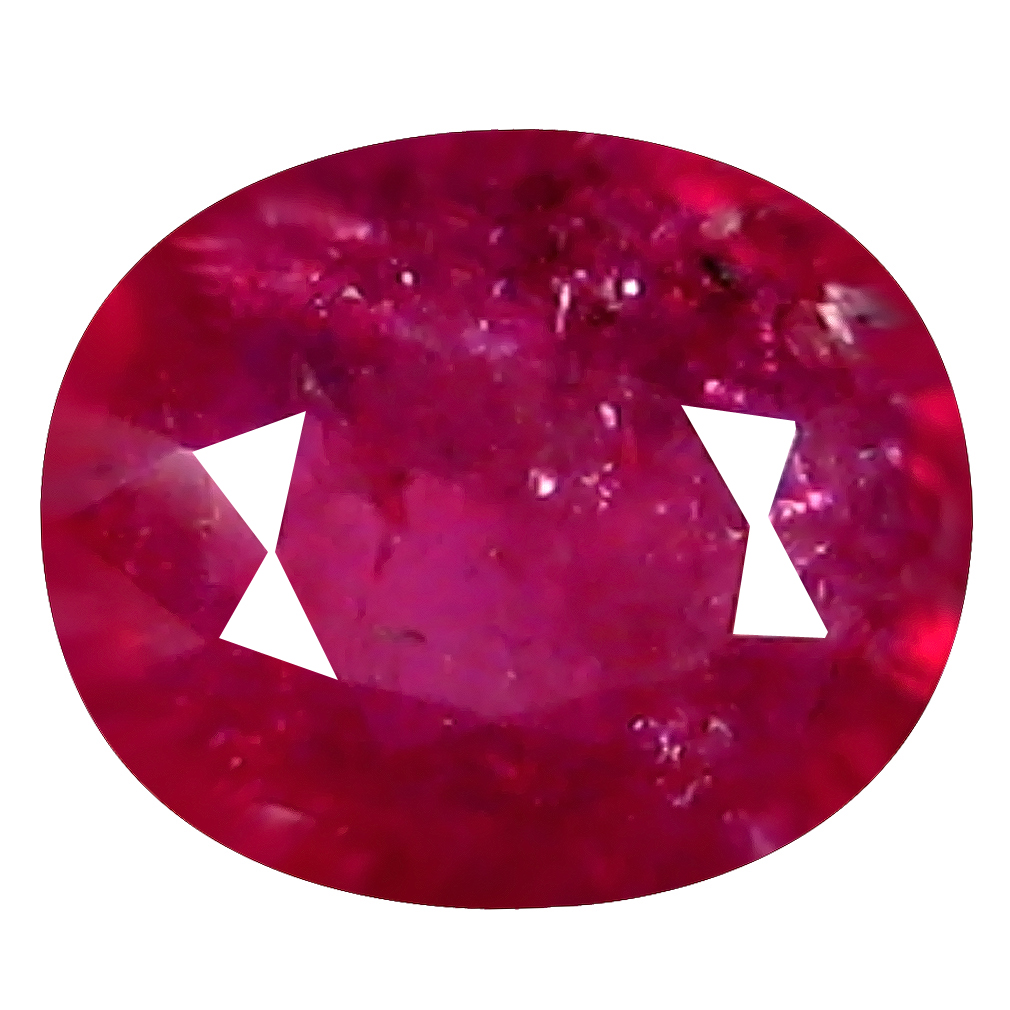 0.70 ct Supreme Oval Shape (6 x 5 mm) Pinkish Red Sapphire Genuine Stone