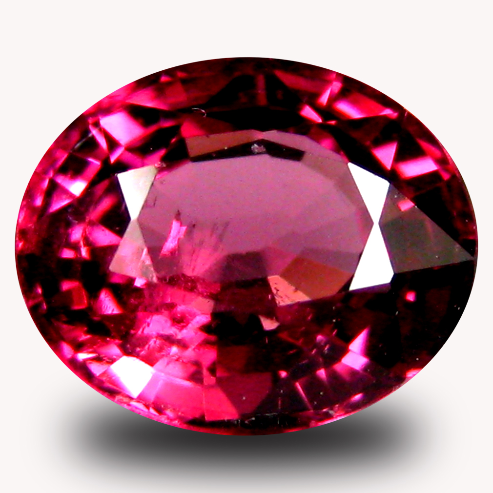 1.34 ct AAA+ Pretty Oval Shape (7 x 6 mm) Pinkish Red Rhodolite Garnet Natural Gemstone